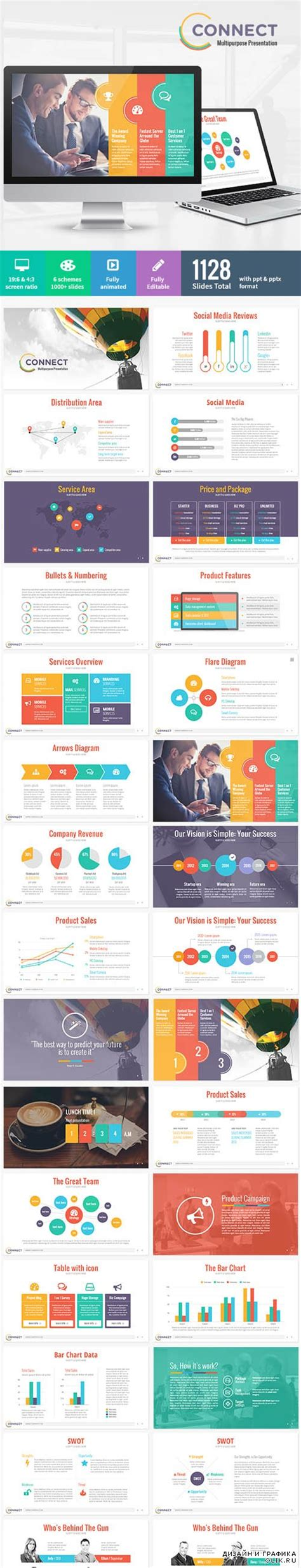 powerpoint themes nulled graphicriver connect modern powerpoint template 8957333