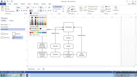 Cara Membuat Dfd Di Ms Visio | cara membuat diagram dfd data flow diagram di microsoft