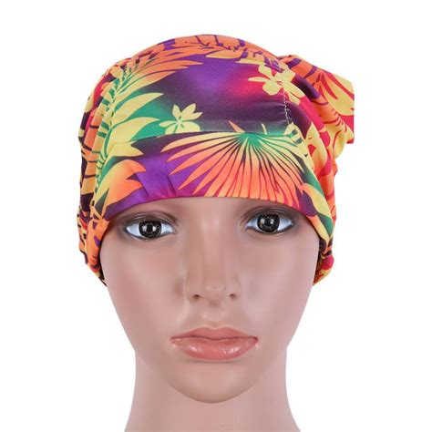 Flower Swim Cap durable waterproof kid children swim cap