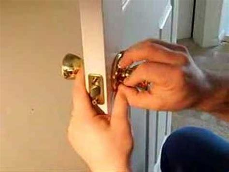 How To Put A Door Knob On by How To Install A Door Knob