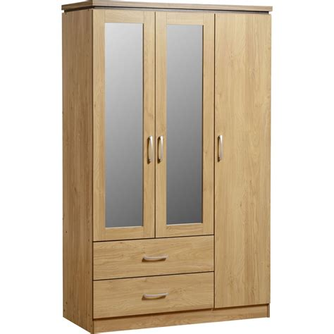 How To Wardrobe by Charles 3 Door 2 Drawer Mirrored Wardrobe