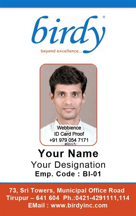 employees identity card template id card coimbatore ph 97905 47171 vertical employee