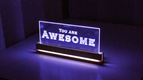 how to make a lighted sign elegant acrylic led decoration how to make a edge light