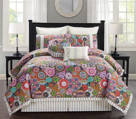 queen bed in a bag sets 12 piece palermo floral bed in a bag set