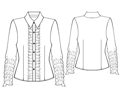 drawing blouse pattern blouse sewing pattern 5426 made to measure sewing