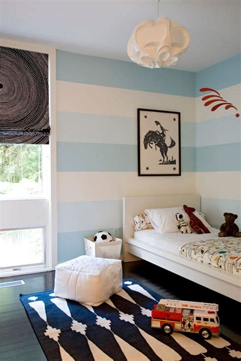 blue striped walls blue variations for boys rooms