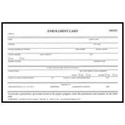 church registration card template enrollment card permanent record of progress form 10