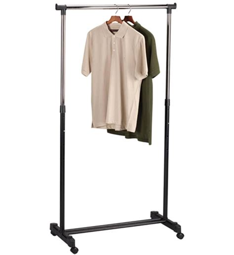 rolling garment rack in clothing racks and wardrobes
