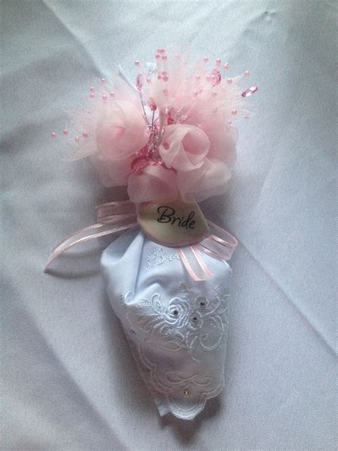 bridal shower corsage ideas handkerchief corsage for a bridal shower then the can use the hankie on wedding day