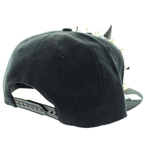 Studded Baseball Cap unsex exaggerate horn studded baseball cap 303679 910