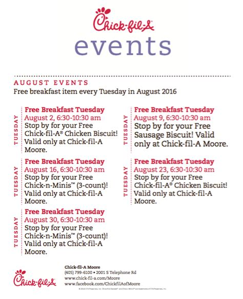 printable restaurant coupons okc free chick fil a breakfast days in august moore location