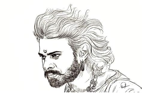 Bahubali 1 Sketches by Vin Vinod Vinvinod143