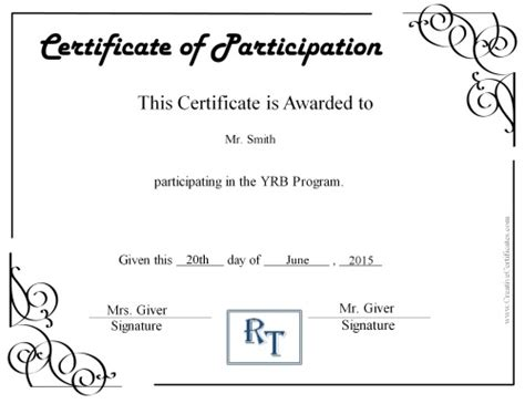 free sample for certificate of participation best of unique