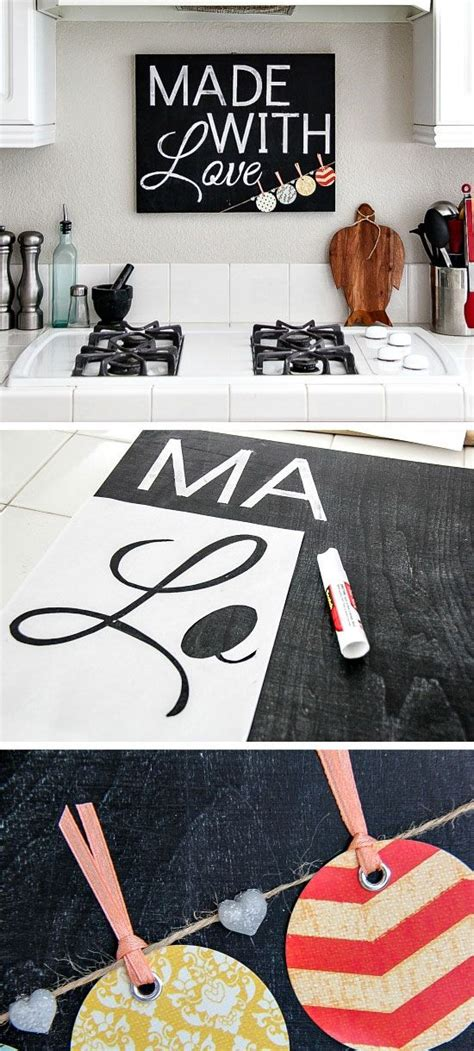 chalkboard kitchen sign click pic   diy kitchen