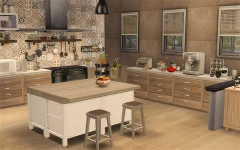 sims artists kitchen rustique chic sims  downloads
