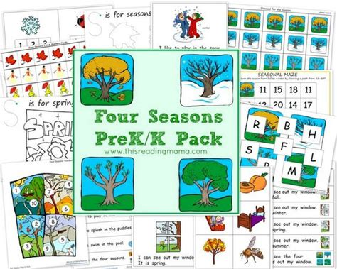 Essay 4 Seasons by The Four Seasons Pre K K Pack Free Beginning Reading Emergent Readers And Apple Unit