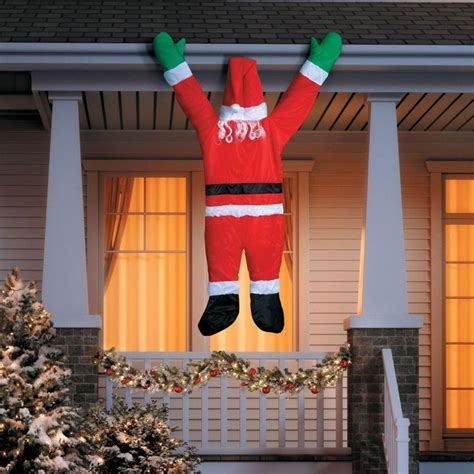 yard santa claus eraper around a tree on skis 1000 images about outdoor decorations on icicle lights
