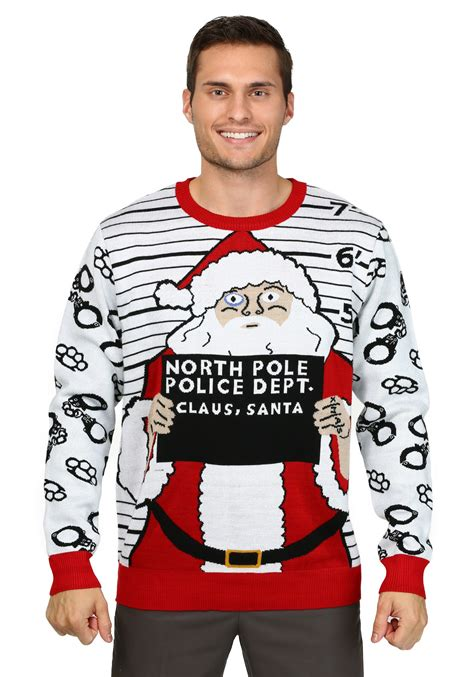 men s free santa ugly christmas sweater