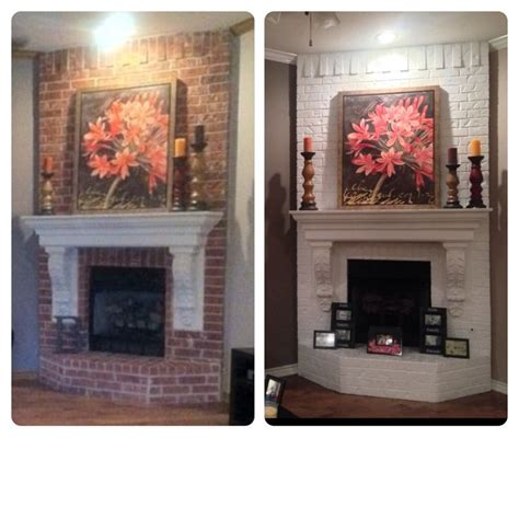 Before And After Fireplaces by Painted Fireplace Before And After Home Sweet Home