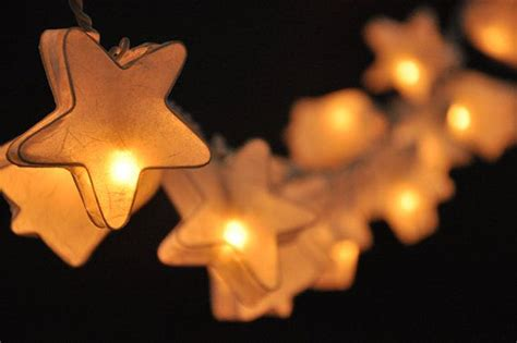 20 White Star Bell Paper Lantern String Lights For Party White Paper Lantern String Lights