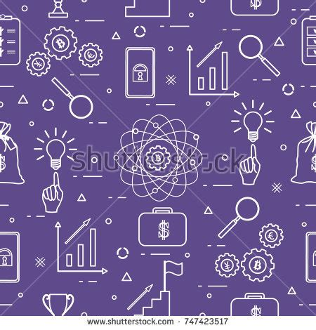 svg pattern processing astronomy science colorful icons spaceship light stock