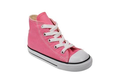 converse hi toddler infant pink canvas trainers