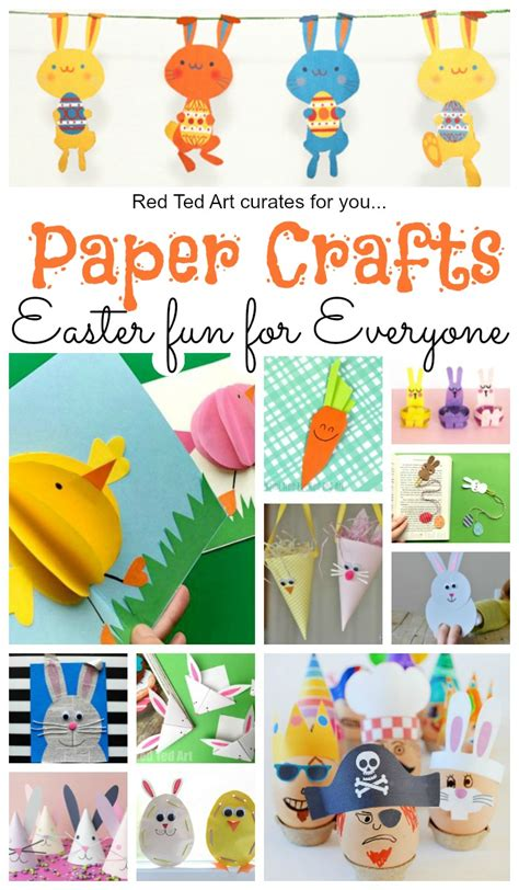 Craft Items With Paper - paper easter crafts ted s