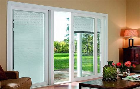 sliding patio door with blinds between glass sliding glass patio doors design ideas plywoodchair