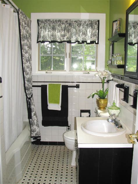 black  white bathroom decor ideas hgtv pictures hgtv