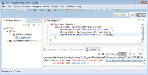 java tutorial keyboard input java tutorial read input from console javadevnotes