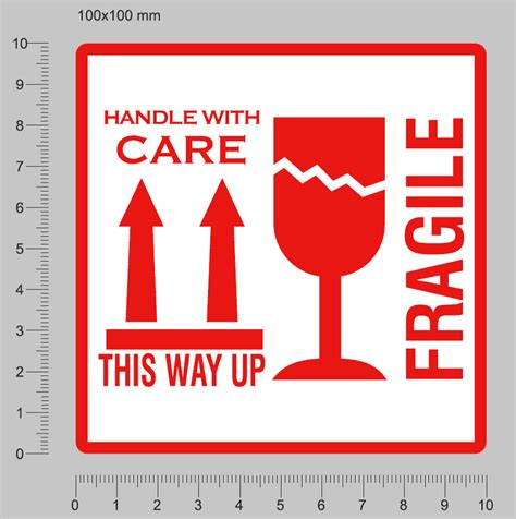 shipping label fragile handle with care 100 fragile stickers this way up stickers handle with care