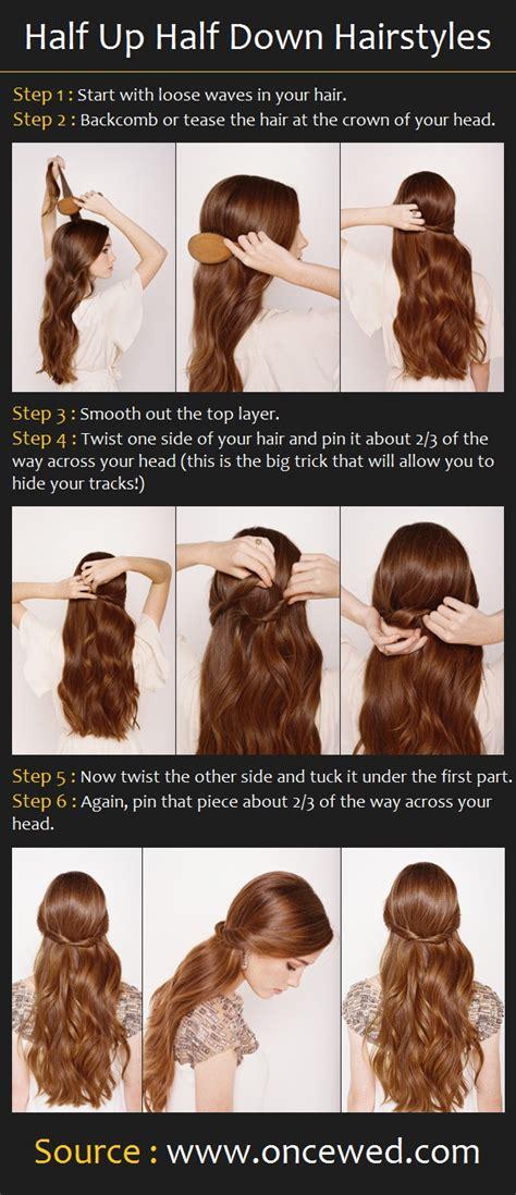 hairstyles half up half down step by step half up half down hairstyles pinterest tutorials