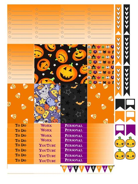free printable halloween planner stickers 6326 best home office planners stationery favs images