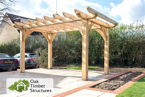 oak pergola build project photos oak timber structures