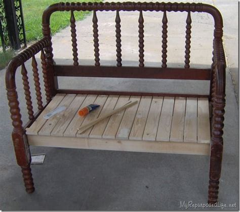 benches made from old beds jenny lind twin bed made into a bench love it re