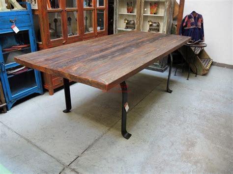 tavoli rustici in legno massello tavolo assi legno massello gamba u f9x005 orissa