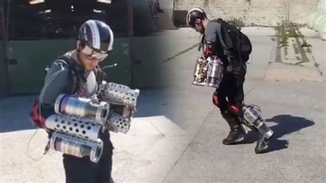 inventor builds real life iron man suit fly