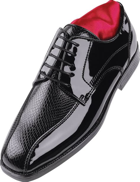 After 6 Dress Shoes by S After Six A6048 Tuxedo Formal Dress Shoes Black Patent Matte Snakeskin Ebay