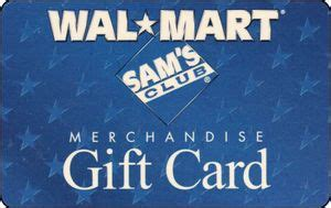 Walmart Sam S Club Gift Card - gift card sam s club walmart united states of america sam 180 s club col us wal 000009