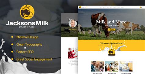 design milk wordpress theme dairy farm eco products theme theme for u