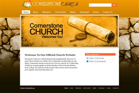 church magazine template just released three new church website templates
