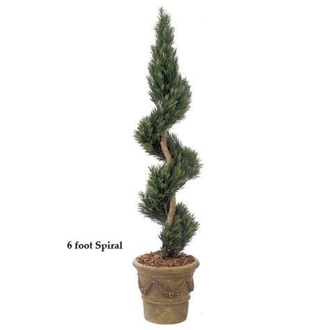 faux topiary outdoor 6 foot outdoor artificial podocarpus spiral topiary w