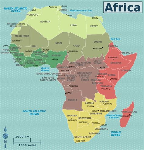 of africa map memorizing capitals material world