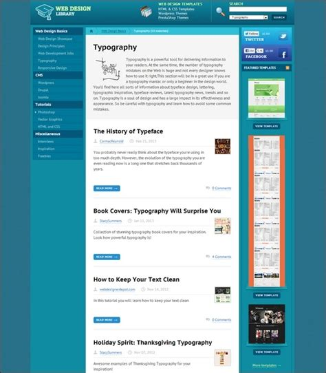 web layout library 55 cool font blogs and typography galleries for