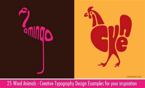 design inspiration words design inspiration 25 creative word animal typography