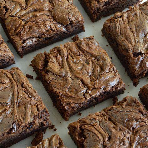 Fudgy Brownies Topping Nutella Chocomaltine chocolate chunk nutella brownies recipe wonkywonderful