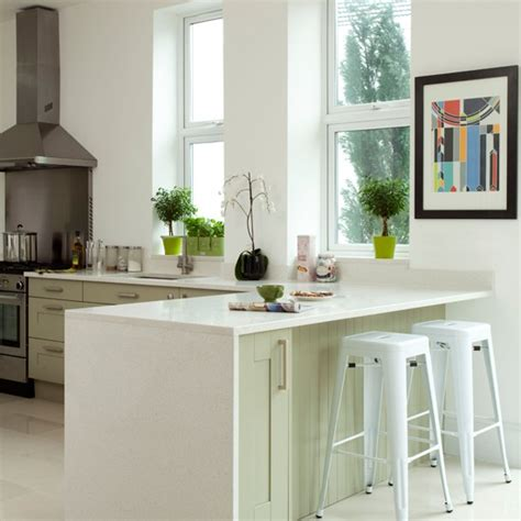 pale green kitchen cabinets white and pale green kitchen peninsula kitchen