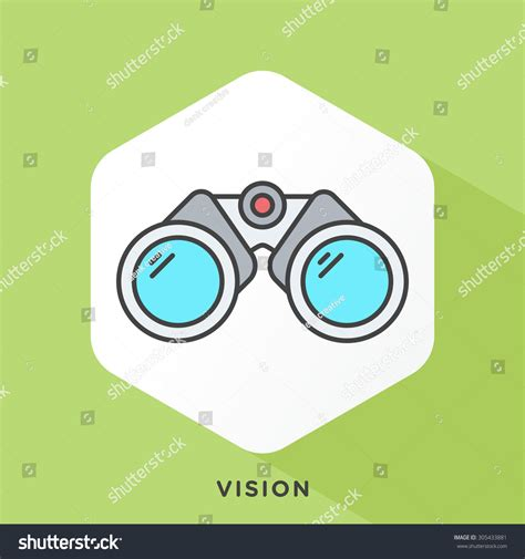 Outline Offset Color by Binoculars Icon Grey Outline Offset Stock Vector 305433881