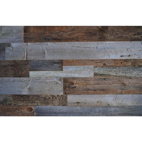Backsplash Peel And Stick Reclaimed Wood Brown Amp Gray 3 8 In Thick X 3 5 In Width