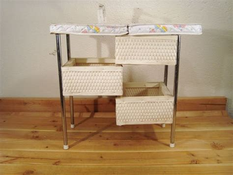 Wicker Baskets For Changing Table Vintage Badger Basket Wicker Baby Folding Changing Table The Way It Was Child Care